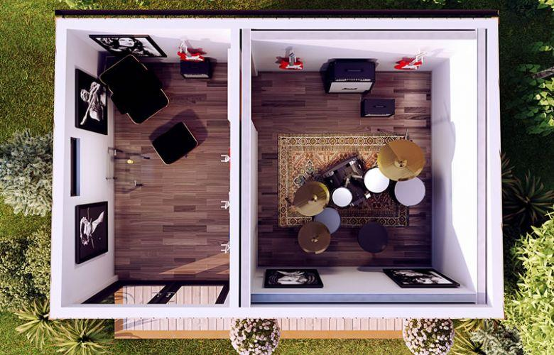 Top Down View Recording Garden Room