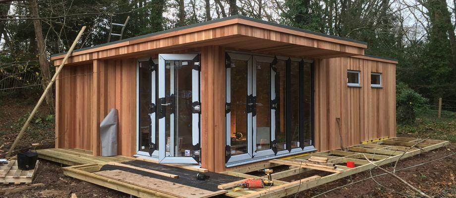 Canopy Corner Garden Room Partially Constructed